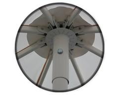 Зонт Митек Ø 4,0 м с воланом (стальной каркас с подставкой, стойка 50мм, 8 спиц 30х15мм, тент OXF 300D)