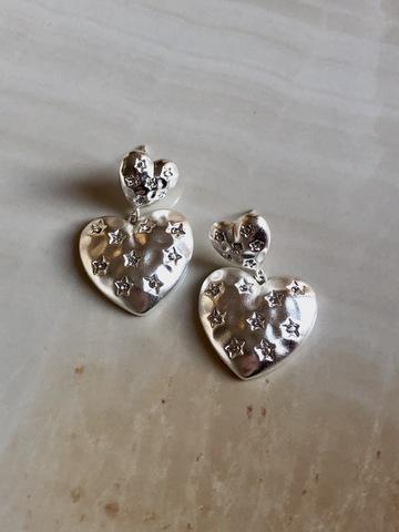 Серьги Ноче Тиерна, серебряный цвет