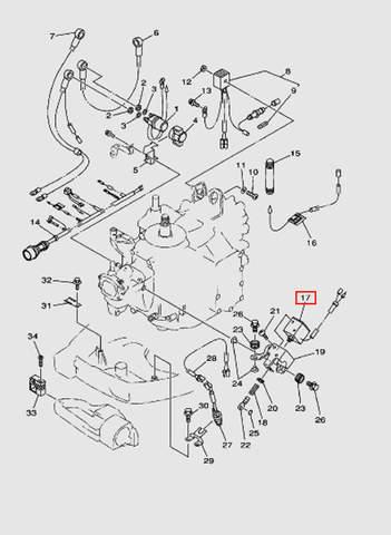Соленойд подсоса, катушка (в сборе)  для лодочного мотора T40 Sea-PRO (10-17)