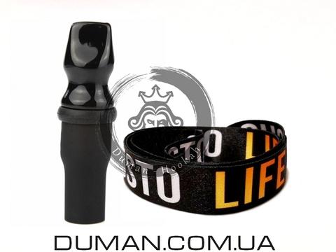 Персональный мундштук Gusto Bowls (Густо Болс) |Black Gusto Life