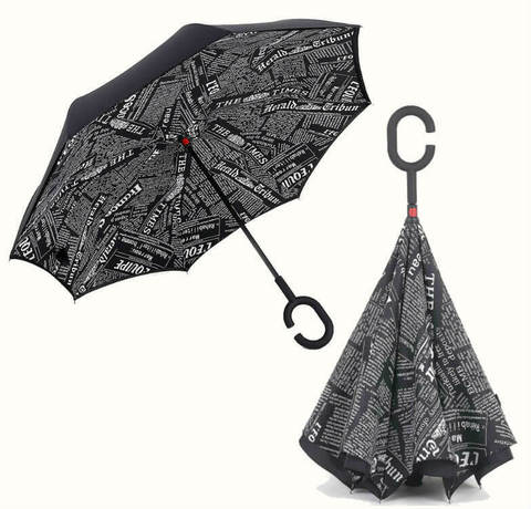 Обратный зонт ReU Black journal (арт.RU-2)