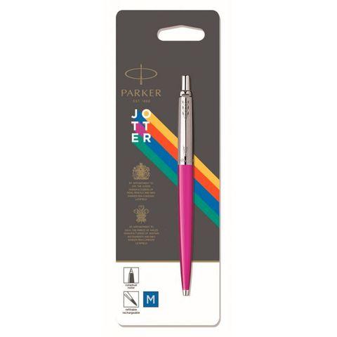 Ручка шариковая Parker Jotter Color (2075996) розовый Mblue в блистере