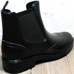 Резиновые сапоги матовые женские W9072Black.