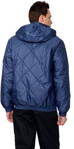 Куртка  мужская, с капюшоном, темно-синяя