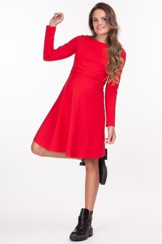 Платье для беременных и кормящих 11749 красный