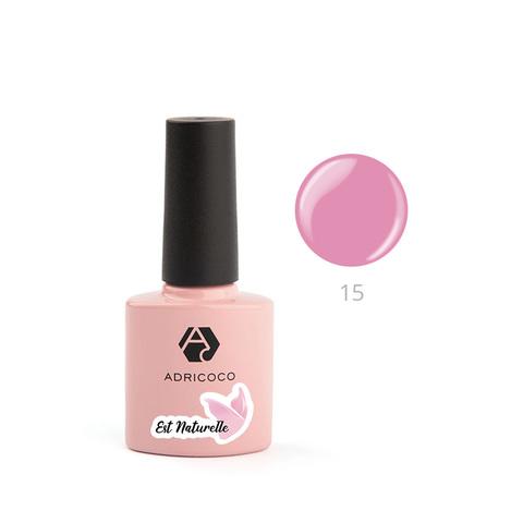 Гель-лак ADRICOCO Est Naturelle №15 камуфлирующий розовый (8 мл.)