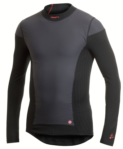 Термобелье Рубашка Craft Active Extreme Windstopper мужская черная
