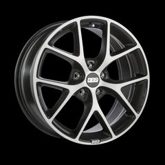 Диск колесный BBS SR 8x18 5x100 ET36 CB70.0 volcano grey/diamond cut