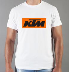 Футболка с принтом KTM (KTM AG) белая 004
