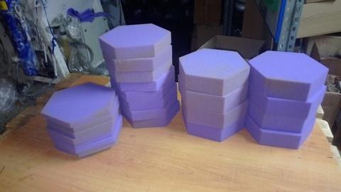 Акустический поролон ECHOTON Hexagon (12шт) фиолетовый