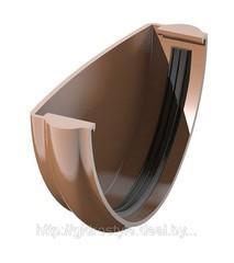 Заглушка желоба металл D125мм коричневая