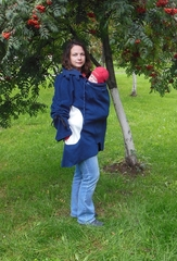 Туника для слингоношения MaM Tunic Polar Fleece, разм.  L/XL,  'Чёрный Ирис/Серый Ледник'