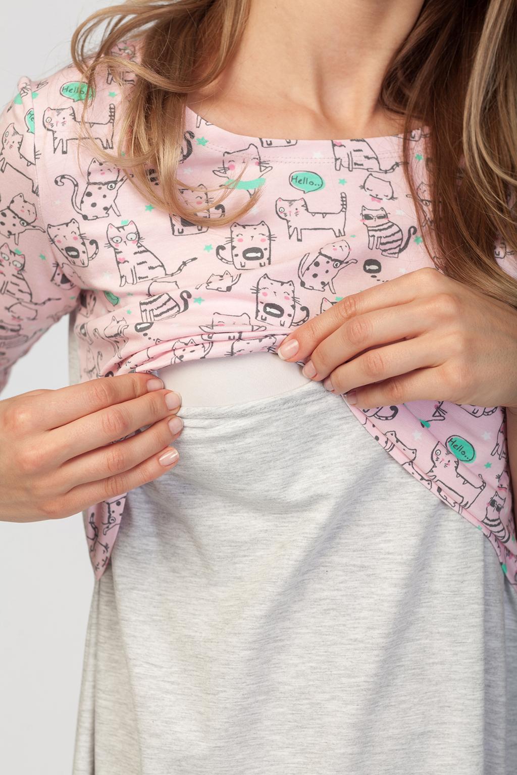 Ночная сорочка для будущих и кормящих мам - Фото 4