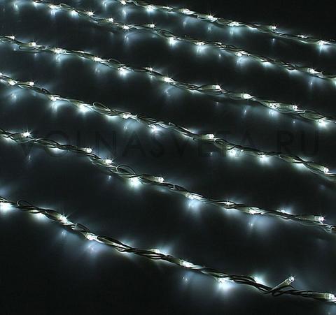 Гирлянда светодиодный дождь белая, 2x6 м, LED-1500-220V