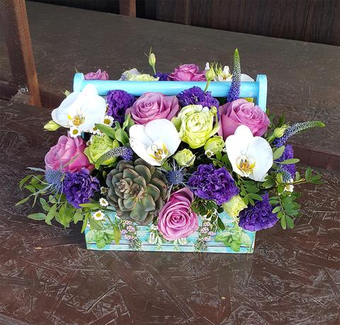 Ящик с цветами Лаванда 3