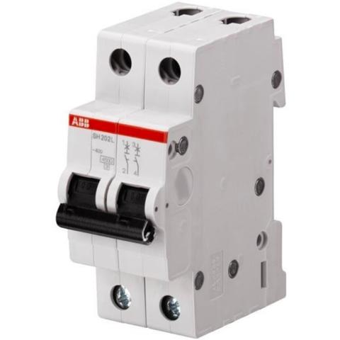 Автоматический выключатель 2-полюсный  63 A, тип C, 6 кА SH202 C63. ABB. 2CDS212001R0634