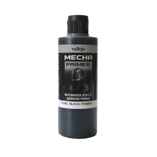 Грунты 74642 Watebased Acrylic Airbrush Primer акриловый грунт, черный (Black), 200 мл Acrylicos Vallejo 74642.jpg