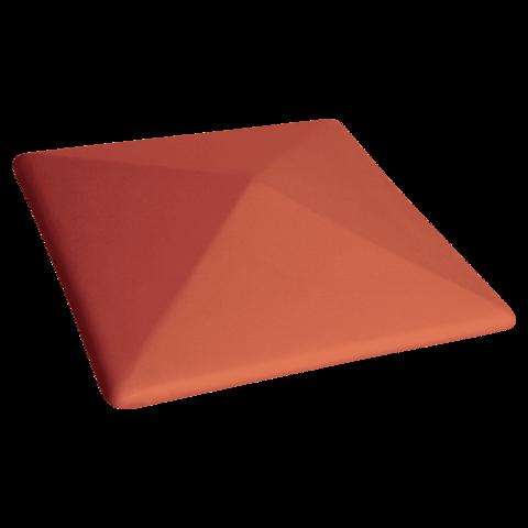 Колпак для столбов забора King Klinker, Рубиновый красный (01) Ruby red, 400x400x90