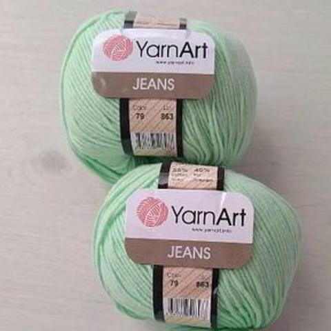 Пряжа YarnArt JEANS - (79-мятный)