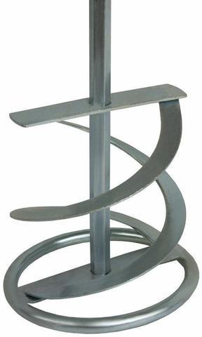 Насадка для перемешивания ПРАКТИКА хвостовик НЕХ 10, 100 х 600, гипс, клей д/плитки (779-509)