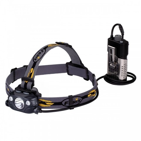 Фонарь светодиодный налобный Fenix HP30R черный, 1750 лм, аккумулятор