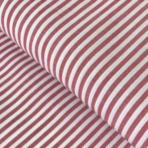 Ткань  хлопок розовая полоска узкая 2058