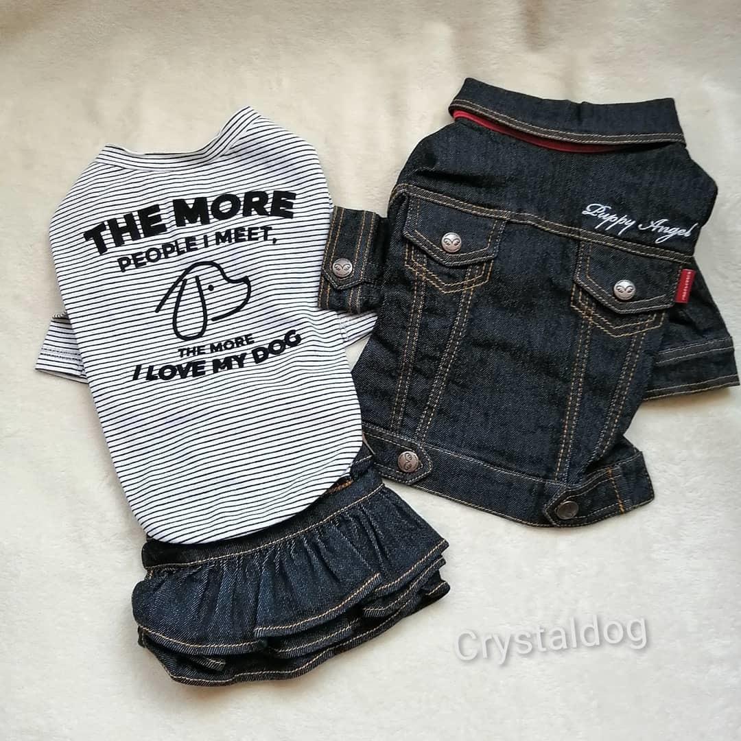 джинсовая одежда puppyangel
