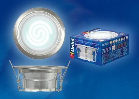 GX53/Н-2R Серебро. Светильник встраиваемый с рефлектором. Картонная упаковка.