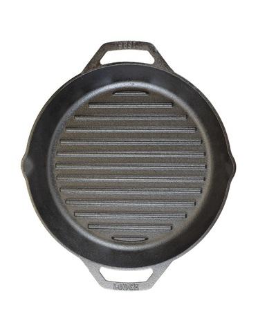 Сковорода чугунная круглая  с двумя ручками, артикул L10GPL