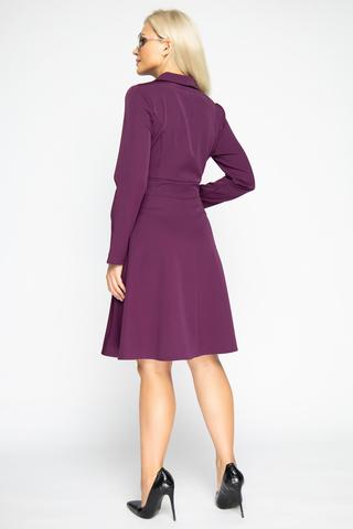<p><span>Отличное платье для романтической дамы! Отложной воротничок. Юбка клёш, с имитацией пояса. &nbsp;Рукав длинный. Отличный вариант для торжества. (Длина: 46-98см; 48-99см; 50-100см; 52-101см)</span></p>