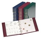 Альбом NUMIS classic, с шубером, с 5-ю листами, бордовый