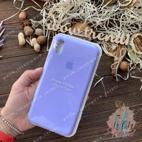 Чехол iPhone XS Max Silicone Case Full /glycine/ гортензия
