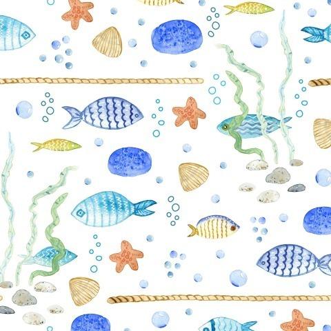 Рыбы на белом фоне