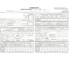 Бланк Путевой лист грузового автомобиля форма 4-П офсет А4 (195х270 мм, 100 листов, в термоусадочной пленке)