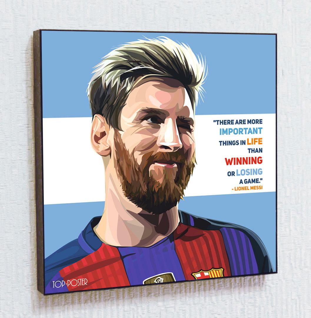 Лионель Месси ПОП АРТ Футбол Барселона
