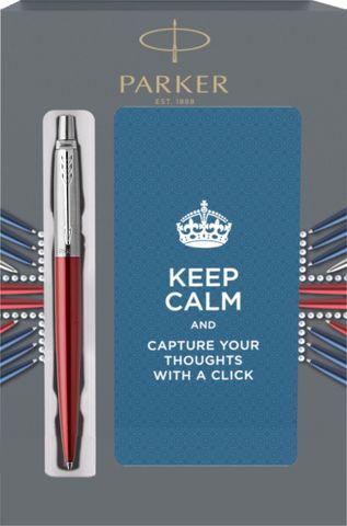 Подарочный набор с блокнотом и Шариковая ручка Parker Jotter Essential, Kensington Red CT123