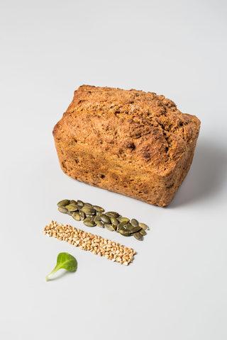 Хлеб безглютеновый «Зеленая гречка – семена тыквы», 450 г