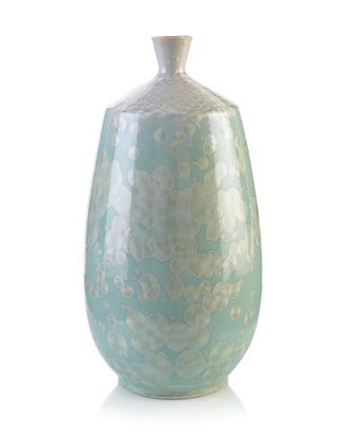 Ocean Blue Jewel Vase