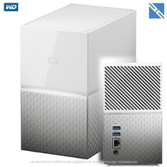 Сетевой накопитель Western Digital WD My Cloud Home Duo 6TB 2-Bay Personal Cloud NAS Server (2 x 3TB)