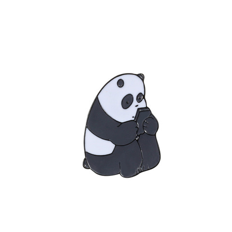 Значок, пін - Панда з телефоном