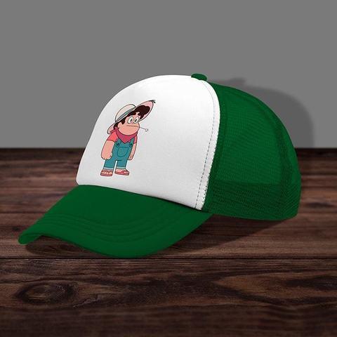 Зелёная кепка с сеткой
