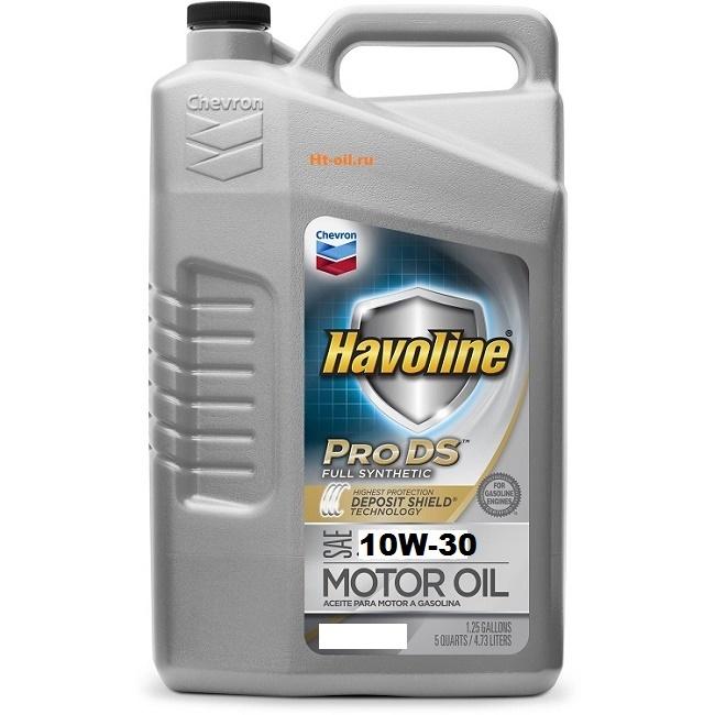 HAVOLINE PRO DS FULL SYNTHETIC 10W-30 моторное масло для бензиновых двигателей Chevron (5 литров)