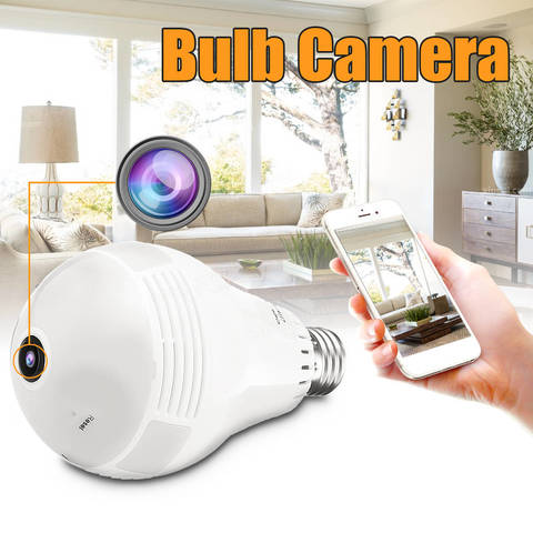 VR CAM IP камера панорамная 360 градусов в цоколь лампы E27