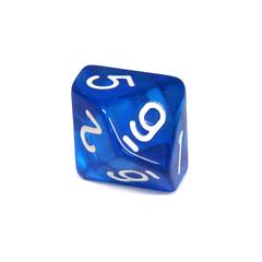 Куб D10 прозрачный: Синий