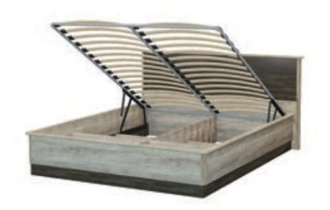 Спальня ВЕРСАЛЬ-2 Кровать с подъёмным механизмом (головной щит ЛДСП) КД 2.8 (160*200)
