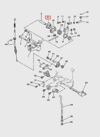 Фиксатор тросов газа  для лодочного мотора T15, OTH 9,9 SEA-PRO (12-21)