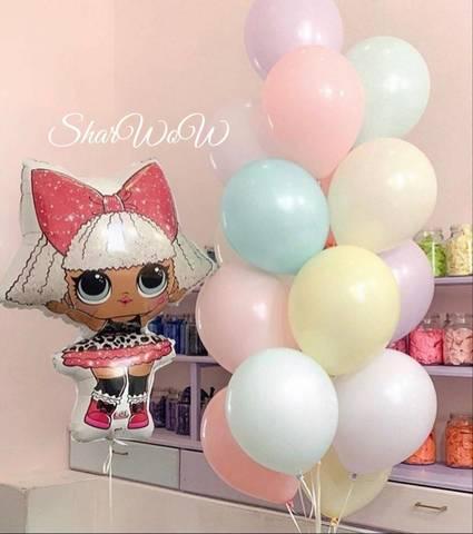 Набор пастельных шаров макарони с куклой лол
