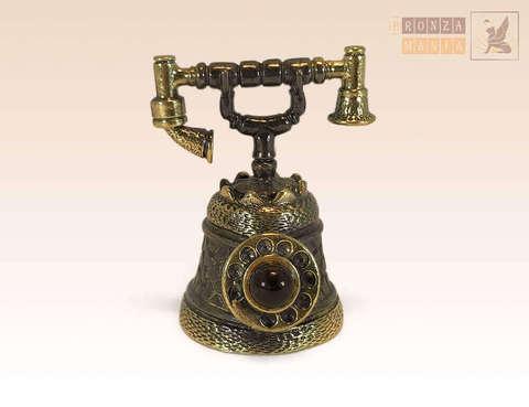 колокольчик Телефон малый с янтарем