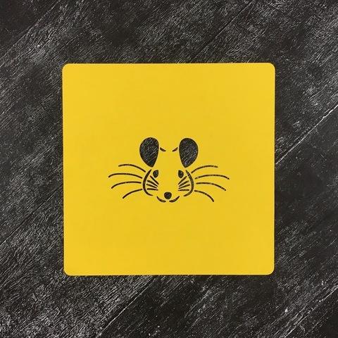 Мышка №70 трафарет