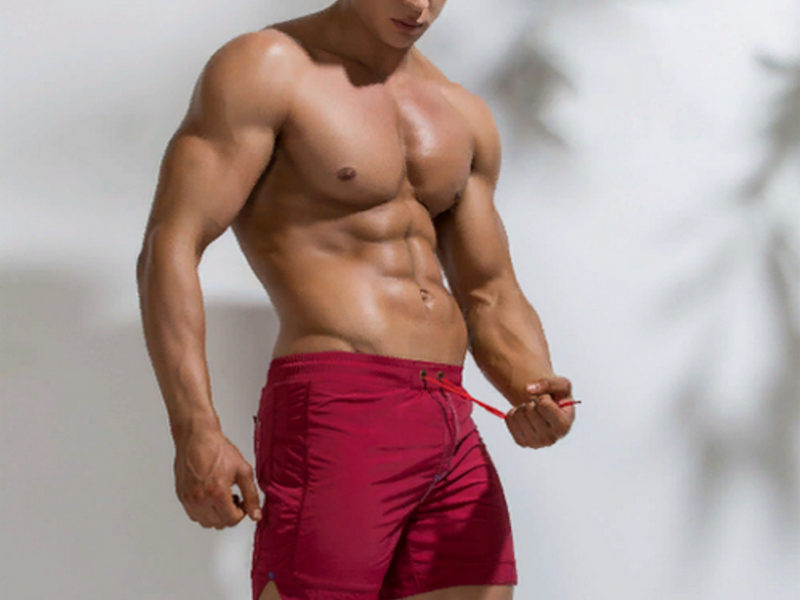 Мужские шорты бордовые UXH B9210